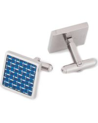 Murano - Blue Stainless Steel Cuff Links - Lyst