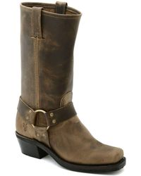 Frye - Harness 12r Leather Square-toe Boots - Lyst