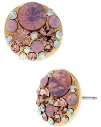 Betsey Johnson - Faceted Bead Round Stud Earrings - Lyst