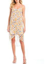 64946e5d375 Gianni Bini Macie Floral Embroidered Bead Embellished Sheath Dress ...