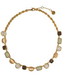 Vince Camuto - Crystal Frontal Necklace - Lyst