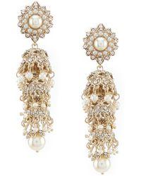 Marchesa - Linear Statement Earrings - Lyst