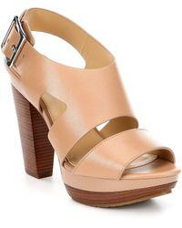 594ce037558 MICHAEL Michael Kors - Carla Vachetta Leather Platform Sandals - Lyst