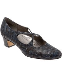 80defba7a3a7 Trotters - Jamie Snake Print Cross Over Band Pumps - Lyst