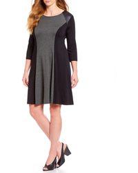 Karen Kane - Plus Size Colorblock Two-toned Dress - Lyst