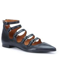 Frye - Sienna Buckle Ballet Block Heel Flats - Lyst