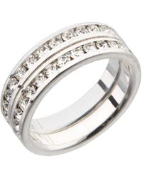 Dillard's - Boxed Collection Cubic Zirconia Eternity Band Set - Lyst