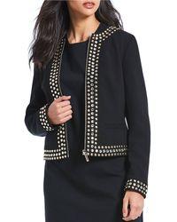 MICHAEL Michael Kors - Rhinestone Stud Embellished Jacket - Lyst