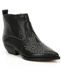 Dolce Vita - Uma Studded Chelsea Western Inspired Booties - Lyst