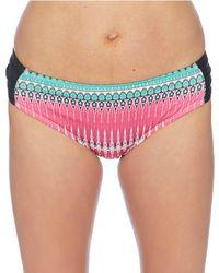 Next By Athena - Horizon Lines Chopra Printed Mid Rise Swimsuit Bottom - Lyst