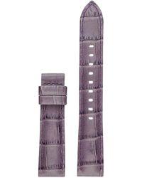 Michael Kors - Access Sofie Purple Leather Watch Strap - Lyst