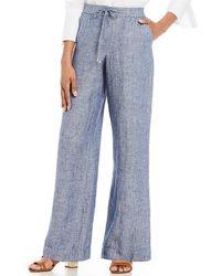 Jones New York   Linen Easy Pants   Lyst