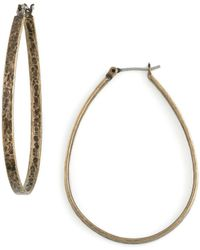 Lucky Brand - Medium Oblong Hoop Earrings - Lyst