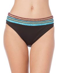La Blanca - Running Stitch Banded Contrast Hipster Bottom - Lyst