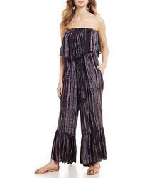 3441fe1332a Free People - Summer Vibes Strapless Tie-dye Jumpsuit - Lyst