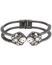 Belle By Badgley Mischka - Geometric Stone Hinge Bracelet - Lyst