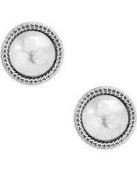Lucky Brand - Chain Bead Stud Earrings - Lyst