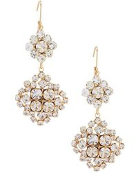Belle By Badgley Mischka - Cluster Link Earrings - Lyst