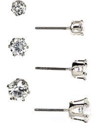 Anne Klein - Trio Stud Earrings Set - Lyst