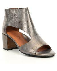 Gentle Souls - Charlene Leather Block Heel Sandals - Lyst
