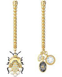 Swarovski Hoop Pierced Earrings Lyst