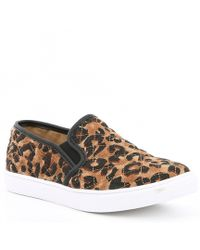 b8543fb4c1c Steve Madden - Ecentrcq Leopard Quilted Slip-on Sneakers - Lyst