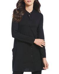 Eileen Fisher - Mandarin Collar Tunic - Lyst