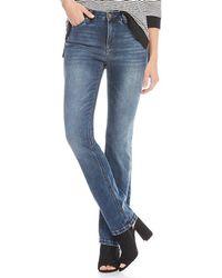 Jones New York - Lexington Stretch Denim Madison Wash Straight-leg Jeans - Lyst
