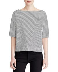 Polo Ralph Lauren - Cotton Short Sleeve Blouse - Lyst