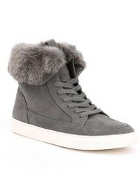 Gianni Bini - Lainden Faux Fur Trim Sneakers - Lyst