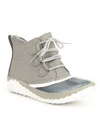 Sorel - Out N About Leather Plus Booties - Lyst