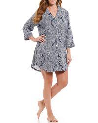 Lauren by Ralph Lauren - Plus Classic Paisley Notch Collar Sleep Shirt - Lyst
