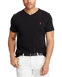 63ddf0f47 Polo Ralph Lauren Classic-fit Short-sleeved Cotton Jersey V-neck Tee ...