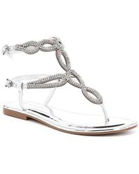 0fd061489cce4f Antonio Melani - Walite Multi Color Stone Embellished Flat Sandals - Lyst