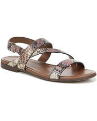 cbd495d1c82d6 Naturalizer - Tru Snake Print Casual Leather Sandals - Lyst