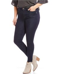 6c278d60 Lyst - Silver Jeans Co. Mazy Slim-fitting Embroidered Destructed ...
