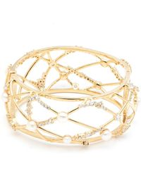 Carolee - Caged Open Hinged Cuff Bracelet - Lyst