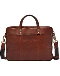 Fossil | Haskell Leather Briefcase | Lyst