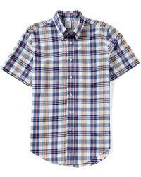 Brooks Brothers - Madras Plaid Regent-fit Short-sleeve Woven Shirt - Lyst