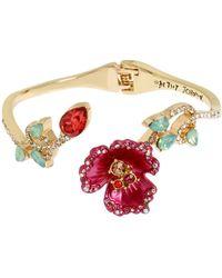 Betsey Johnson - Flower Hinge Bracelet - Lyst