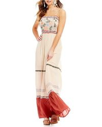Patrons Of Peace - Embroidered Maxi Dress - Lyst