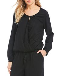 Patrons Of Peace - Faux Wrap Top - Lyst