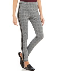 Jolt - Plaid Tuxedo Stripe Menswear Inspired Ponte Pants - Lyst