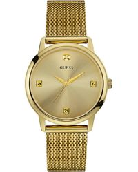 Guess - Slim Mesh Bracelet Watch - Lyst