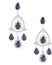 Cezanne - Halo Chandelier Earrings - Lyst