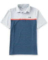 b2a338fc9d Lyst - Under Armour Golf Horizontal Striped Playoff Polo Shirt in ...