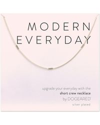 Dogeared - Modern Everyday Multi Bar Chain Necklace - Lyst