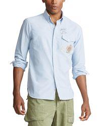 eb5eb1c06 Custom Fit Crest-print Shirt