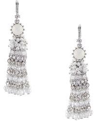 Marchesa - Tassel Linear Statement Earrings - Lyst