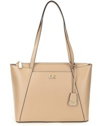 MICHAEL Michael Kors - Maddie Medium East/west Rose-gold Tone Tote - Lyst